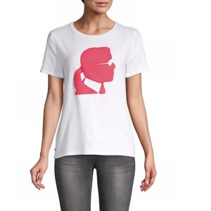 NEW* Karl Lagerfeld Paris Karl Head T-Shirt +Logo